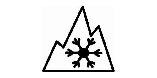 three peak mountain snowflake