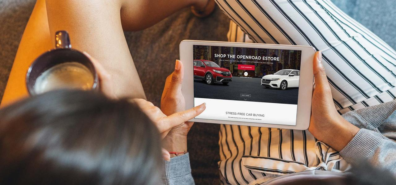 Buy Your Next Car Online at OpenRoad Honda